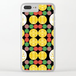 Stars Circles Clear iPhone Case