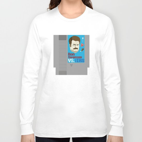 Ron Swanson VS. the IRS Long Sleeve T-shirt