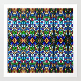 Stained Glass Pattern Art Print
