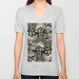 Camo Camo, and the art of disappearing. Unisex V-Neck