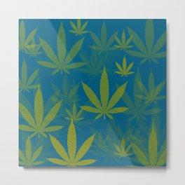 Marijuana Cannabis Weed Pot Indie Style Metal Print