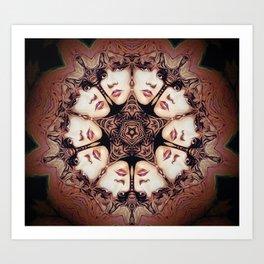 Witchy Woman // Stevie Nicks Mandala Music Star Rock Goddess Psychedelic Gypsy Bohemian Boho Art Print