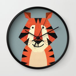Whimsy Tiger Wall Clock
