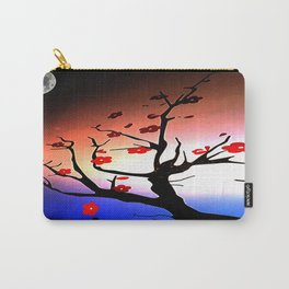 Japanese Maple Under Night Sky With Moon Carry-All Pouch