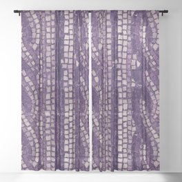 stone tile 4378 ultra violet Sheer Curtain