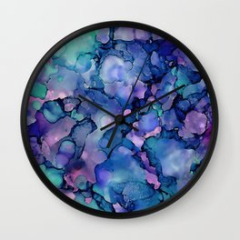 Abstract Alcohol Ink Painting 2 Wall Clock