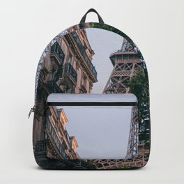 France Photography - Eiffel Tower Seen From Between Two Buildings Backpack