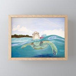 Toby the Turtle Framed Mini Art Print