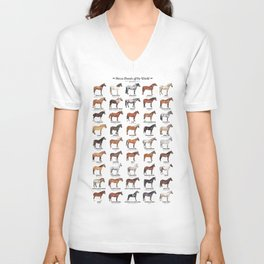 Horse Breeds Of The World Unisex V-Neck