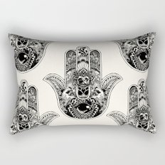 Hamsa Hand Pug Rectangular Pillow