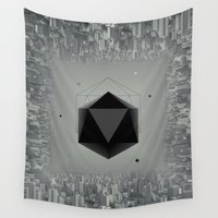city Wall Tapestries featuring City Intruder by Zavu