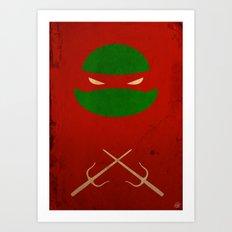 TMNT Raph poster Art Print