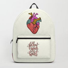 FOLLOW YOUR HEART - tatoo artwork Backpack