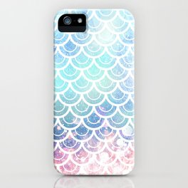 Mermaid Scales Turquoise Pink Sunset iPhone Case