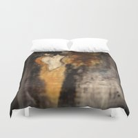 imagerybydianna Duvet Covers featuring amber beads; sketch study by Imagery by dianna
