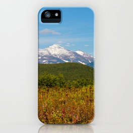 Fall and volcanoes iPhone Case