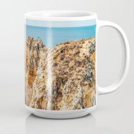 Ocean Landscape, Rocks And Cliffs, Lagos Bay Coast, Algarve Portugal,Wall Art, Poster Decor Coffee Mug