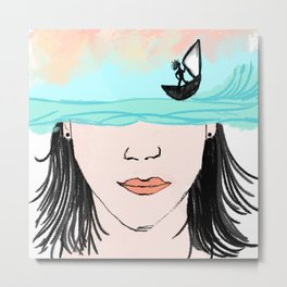 The Sailor Metal Print