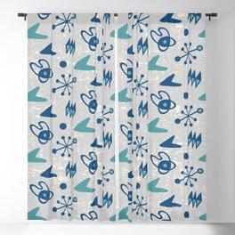 Mid Century Modern Atomic Boomerang Pattern Grey Green 108 Blackout Curtain