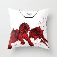 dali Throw Pillows featuring DALI by Ruben Mangorrinha