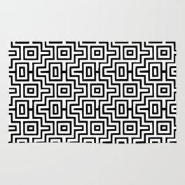 Black & White Choctaw Pattern Rug
