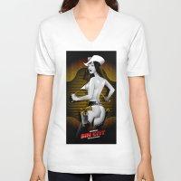 sin city V-neck T-shirts featuring Sin City-Nancy by Szoki