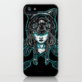 Wolf Spirit: Guarded iPhone Case