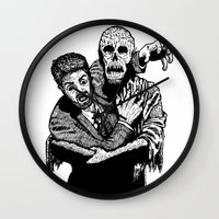 taxi driver Wall Clocks featuring Taxi Driver by Addison Karl