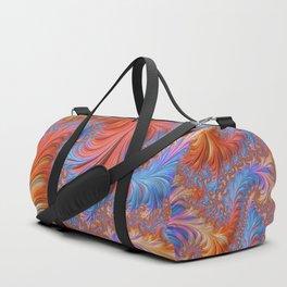 vibrant fractal Duffle Bag