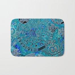Aztec blues Bath Mat
