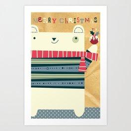 Merry Chrissy Art Print