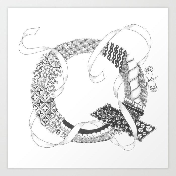 """Zenletter """"Q"""" Art Print"""
