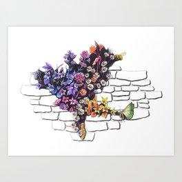 Urban Wild Flowers Art Print