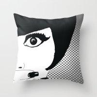 silent Throw Pillows featuring silent by Ezgi Kaya