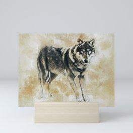 Timber Wolf Mini Art Print