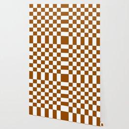 Checker (Brown/White) Wallpaper