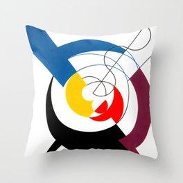 Construction dynamique, Peneration de spirales et diagonales by Sophie Taeuber-Arp Throw Pillow