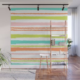 Colorful Horizontal Lines Wall Mural