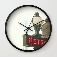 Metro in Paris Wall Clock
