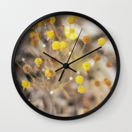 Abstract Botanical - Billy Buttons Wall Clock