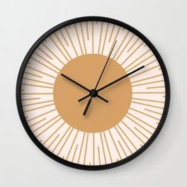 Cheerful Sun Wall Clock
