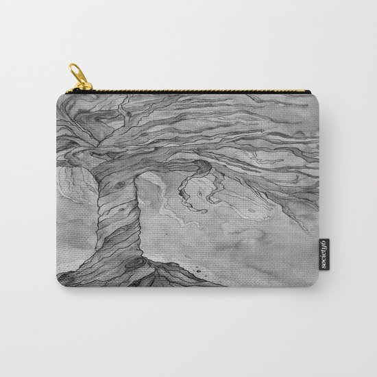 Tree of Life (Grey Scale) Carry-All Pouch