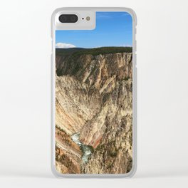 Yellow Rocks Of Yellowstone River Valley Clear iPhone Case