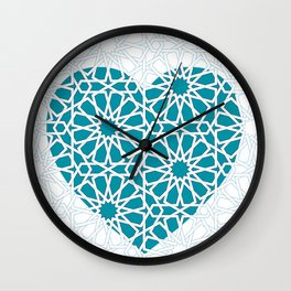 Islamic Heart Design Wall Clock
