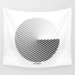 Stripes Can be in a Disc Wall Tapestry