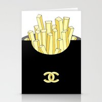 french fries Stationery Cards featuring French fries by flowerstyle