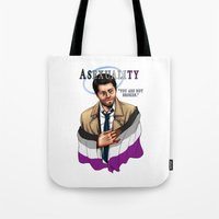 asexual Tote Bags featuring Fandom Pride : Asexuality by Seraph Limonade