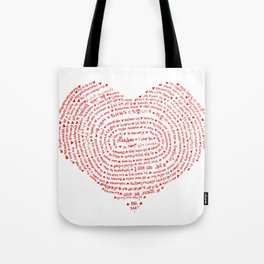 I Love You (Languages of Love Heart) Tote Bag