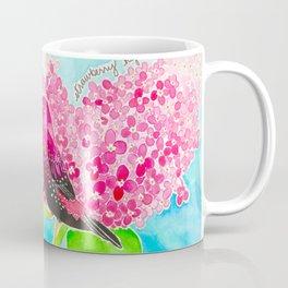 Strawberry Finch & Hydrangeas Coffee Mug