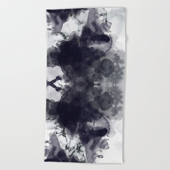 Smoke and marble abstract Beach Towel